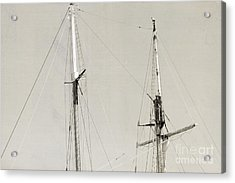 Tall Ship At Dock Acrylic Print