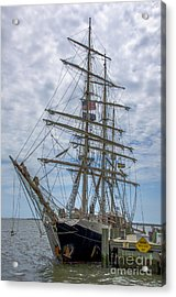 Acrylic Print featuring the photograph Tall Ship Gunilla Vertical by Dale Powell