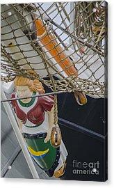 Acrylic Print featuring the photograph Tall Ship Gunilla Masthead by Dale Powell