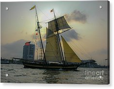 Acrylic Print featuring the photograph Tall Ship In Charleston by Dale Powell