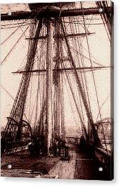 Tall Ship Acrylic Print by Jack Zulli