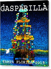 Tall Ship Jose Gasparilla Acrylic Print by David Lee Thompson