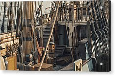 Tall Ship Kalmar Nyckel Ropes Acrylic Print by Dapixara Art