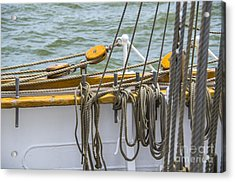 Acrylic Print featuring the photograph Tall Ship Rigging by Dale Powell