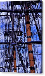 Tall Ship Rigging Of The Hms Surprise Acrylic Print by Garry Gay