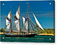Tall Ship Acrylic Print by Steve Harrington