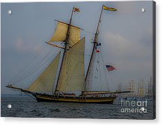 Acrylic Print featuring the photograph Tall Ships by Dale Powell