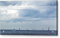 Tall Ships' Exodus Acrylic Print