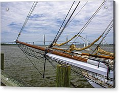 Acrylic Print featuring the photograph Tall Ships In Charleston by Dale Powell