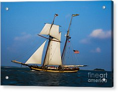 Acrylic Print featuring the digital art Tall Ships Over Charleston by Dale Powell