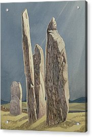 Tall Stones Of Callanish Isle Of Lewis Acrylic Print by Evangeline Dickson