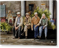 Tall Tales Will Soon Be Told Acrylic Print by Sam Sidders