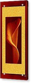Tall Yellow Rose Acrylic Print