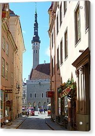 Tallinn City Hall Acrylic Print by David Nichols