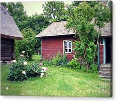 Acrylic Print featuring the photograph Tallinn Historic Village by Art Photography