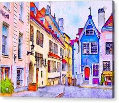Tallinn Old Town Acrylic Print