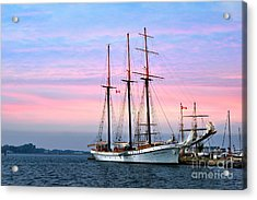 Tallship Empire Sandy Acrylic Print by Elaine Manley