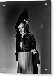 Tallulah Bankhead For The Play The Little Foxes Acrylic Print