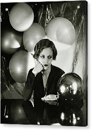 Tallulah Bankhead Surrounded By Balloons Acrylic Print by Cecil Beaton