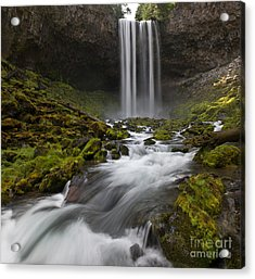 Tamawanas Falls In Summer Acrylic Print by Jackie Follett