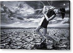 Acrylic Print featuring the digital art Taming The Lightning by Evgeniy Lankin
