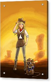 Tammy And Alfred Tame The West Acrylic Print
