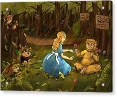 Acrylic Print featuring the painting Tammy And The Baby Hoargg by Reynold Jay