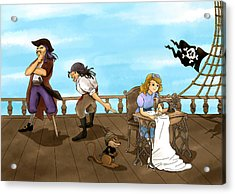 Acrylic Print featuring the painting Tammy And The Pirates by Reynold Jay