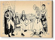 Acrylic Print featuring the drawing Tammy Meets Betsy Ross by Reynold Jay