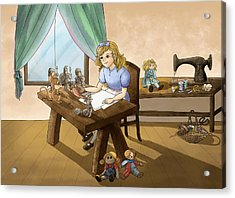 Acrylic Print featuring the painting Tammy The Little Doll Girl  by Reynold Jay