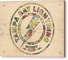 Tampa Bay Lightning Logo Art Acrylic Print