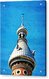 Tampa Beauty - University Of Tampa Photography By Sharon Cummings Acrylic Print by Sharon Cummings