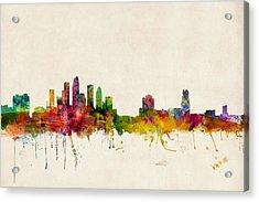 Tampa Florida Skyline Acrylic Print by Michael Tompsett