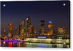 Tampa Lights At Dusk Acrylic Print by Marvin Spates