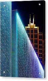 Acrylic Print featuring the photograph Tampa Museum Of Art At Night by Daniel Woodrum