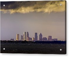 Tampa On The Horizon Acrylic Print by Marvin Spates