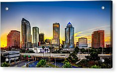 Tampa Skyline Acrylic Print by Marvin Spates