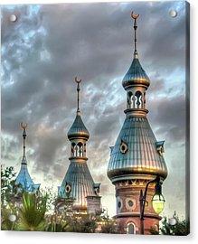 Tampa University Minarets Acrylic Print by Geraldine Alexander