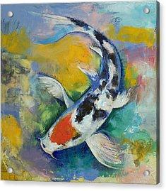 Tancho Sanke Koi Acrylic Print