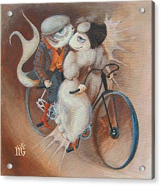 Acrylic Print featuring the painting Tandem by Marina Gnetetsky