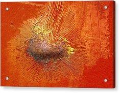 Tangerine Burst Acrylic Print