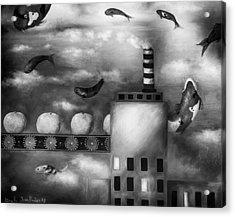 Tangerine Dream Edit 3 Acrylic Print by Leah Saulnier The Painting Maniac