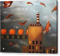 Tangerine Dream Acrylic Print by Leah Saulnier The Painting Maniac