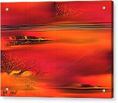 Acrylic Print featuring the painting Tangerine Dream by Yul Olaivar