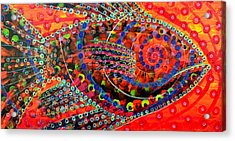 Tangerine Fish Acrylic Print by Jeremy Smith