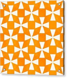 Tangerine Twirl Acrylic Print by Linda Woods