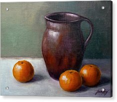 Tangerines Acrylic Print by Janet King