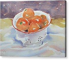 Tangerines Acrylic Print by Owen Hunt