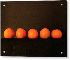 Tangerines Acrylic Print by Patricia Januszkiewicz