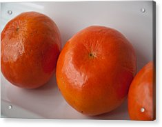 Acrylic Print featuring the photograph Tangerines3 by Lena Wilhite